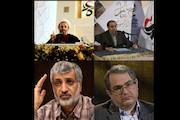 حجت الاسلام پناهیان، شهریار زرشناس، حسن رحیم پور ازغدی و ابراهیم فیاض
