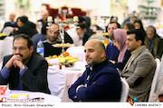 مسعود نجفی در مراسم اختتامیه پنجمین جشنواره نوشتار سینمایی