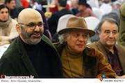 حبیب رضایی و سیروس الوند در مراسم اختتامیه پنجمین جشنواره نوشتار سینمایی