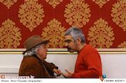 سروش صحت و سیروس الوند در مراسم اختتامیه پنجمین جشنواره نوشتار سینمایی