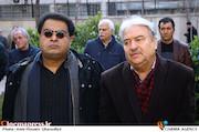 عبدالله علیخانی و علی روئینتن در مراسم تشییع پیکر مرحوم «جمشید الوندی»