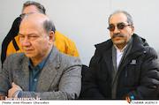تورج منصوری در مراسم تشییع پیکر مرحوم «جمشید الوندی»