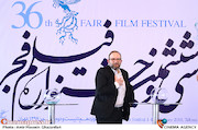 بابک برزویه در مراسم قرعهکشی جدول سینمای رسانهها در سی و ششمین جشنواره فیلم فجر