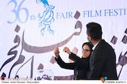 نغمه دانش در مراسم قرعهکشی جدول سینمای رسانهها در سی و ششمین جشنواره فیلم فجر