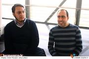 مهرداد معظمی و محمد ذوقی در مراسم قرعهکشی جدول سینمای رسانهها در سی و ششمین جشنواره فیلم فجر