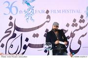 مهران احمدی در مراسم قرعهکشی جدول سینمای رسانهها در سی و ششمین جشنواره فیلم فجر
