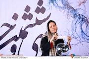 شیما غفاری در مراسم قرعهکشی جدول سینمای رسانهها در سی و ششمین جشنواره فیلم فجر