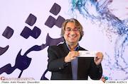 عباس کریمی در مراسم قرعهکشی جدول سینمای رسانهها در سی و ششمین جشنواره فیلم فجر