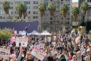 راهپیمایی در روز انتخاب ترامپ