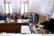 دیدار رئیس مجلس با رئیس صداوسیما و جمعی از کارگردانان