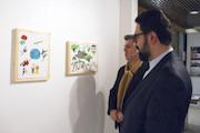 بازدید معاون هنری ارشاد از نمایشگاه کودکان زلزله زده کرمانشاه