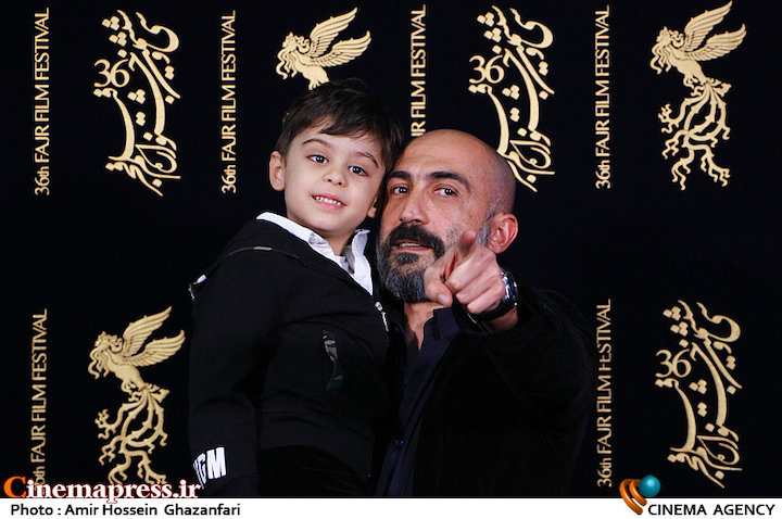 هادی حجازی فر و فرزندش در سی و ششمین جشنواره فیلم فجر