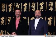 محمدمهدی حیدریان و ابراهیم داروغه زاده در سی و ششمین جشنواره فیلم فجر