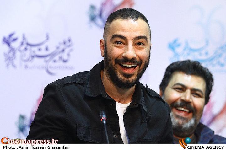 نوید محمدزاده در نشست خبری فیلم سینمایی «مغزهای کوچک زنگ زده»