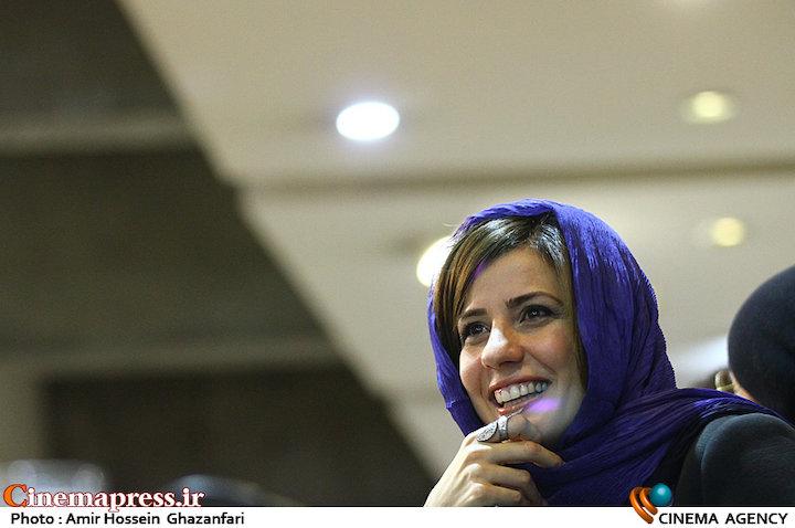 سارا بهرامی در نشست خبری فیلم سینمایی«دارکوب»