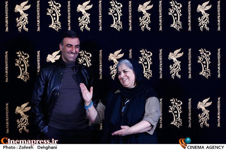 فرشته طائرپور و ابراهیم داروغه زاده در اعلام نامزدهای بخش سودای سیمرغ سی و ششمین جشنواره فیلم فجر