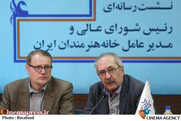 نشست خبری مجید رجبی معمار مدیرعامل خانه هنرمندان