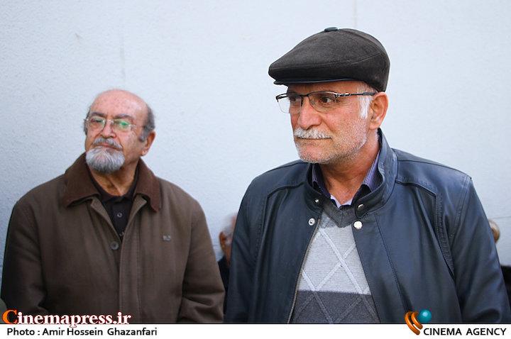 محمدرضا شرف الدین در مراسم تشییع پیکر مرحوم «همایون شهنواز»