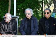 منوچهر اسماعیلی و ایرج رضایی در مراسم تشییع پیکر مرحوم بهرام زند