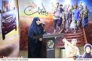 همسر شهید بلباسی در مراسم تقدیر از عوامل سریال پایتخت ۵