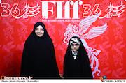 شهره پیرانی(همسر شهید رضاییان) و آرمیتا رضاییان دردومین روز سیوششمین جشنواره جهانی فیلم فجر