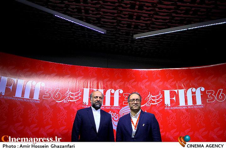 محمدمهدی حیدریان و سیدرضا میرکریمی در سومین روز سیوششمین جشنواره جهانی فیلم فجر