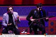 حافظ و شهرام ناظری در مراسم اختتامیه سیوششمین جشنواره جهانی فیلم فجر