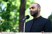 حمید حامی در مراسم تشییع پیکر مرحوم «ناصر چشم آذر»