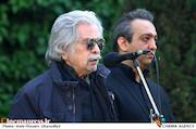 منوچهر اسماعیلی در مراسم تشییع پیکر مرحوم «ناصر چشم آذر»