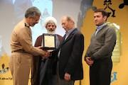 علی نصیریان در جشنواره تئاتر ارتش تجلیل شد