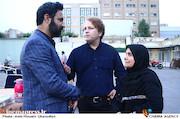 پروانه مرزبان و صادق صادق دقیقی در گردهمایی انجمن سینمای انقلاب و دفاع مقدس