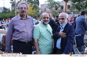حبیب والی نژاد، حافظ احمدی و حبیب الهیاری در گردهمایی انجمن سینمای انقلاب و دفاع مقدس