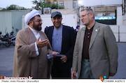 مجید رجبی معمار و ناصر شفق در گردهمایی انجمن سینمای انقلاب و دفاع مقدس