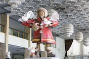 تندیس فرشته نگهبان در تالار وحدت