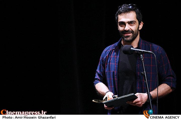 رضا اخلاقی در مراسم اختتامیه پانزدهمین جشنواره فیلم کوتاه دانشجویی نهال
