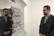 بازدید معاون هنری از نمایشگاه نقش برجسته های هندسی