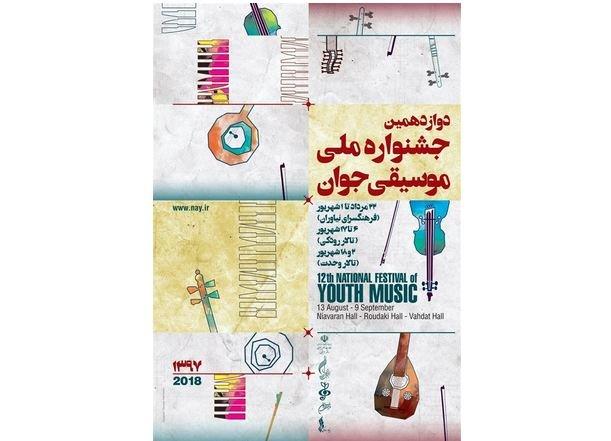 پوستر دوازدهمین جشنواره ملی موسیقی جوان