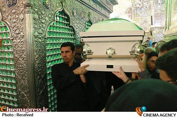 تشییع پیکر ضیاءالدین دری در صحن مطهر حضرت شاهچراغ(ع)