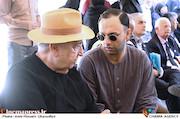 صابر ابر در مراسم تشییع مرحوم عزت الله انتظامی