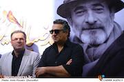 حسام نوری و محمود گبرلو در مراسم تشییع پیکر مرحوم سید ضیاء الدین دری