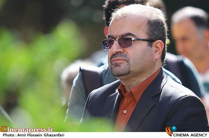 سعید الهی در مراسم تشییع پیکر مرحوم سید ضیاء الدین دری