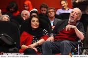 محسن قاضی مرادی و مهوش وقاری در آئین نکوداشت بیستمین جشن سینمای ایران