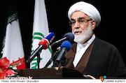 حجتالاسلام والسلمین محمد محمدی گلپایگانی در مراسم تکریم و معارفه روسای سازمان تبلیغات اسلامی