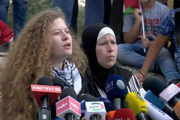 عهد التمیمی دختر قهرمان فلسطینی