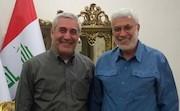 دیدار حاتمیکیا با فرمانده حشد الشعبی عراق