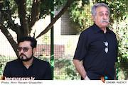 علیرضا جاویدنیا در مراسم تشییع پیکر مرحوم حسین عرفانی