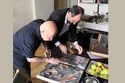 سرپرست فرهنگستان هنر به دیدار محمد احصایی رفت