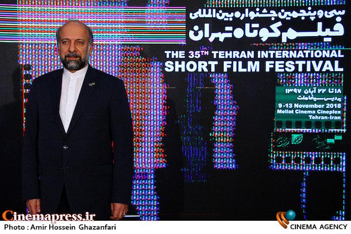 بازدید محمدمهدی حیدریان از سی و پنجمین جشنواره فیلم کوتاه تهران