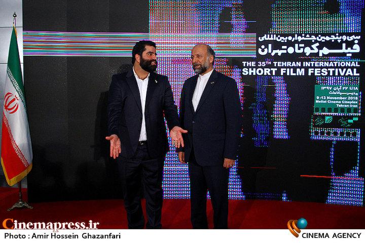 عکس/ بازدید رئیس سازمان سینمایی از سی و پنجمین جشنواره فیلم کوتاه تهران