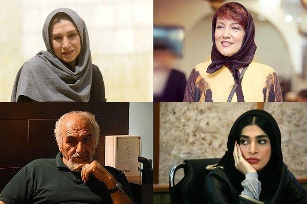انتهآ بهرام، اندیشه فولادوند، نسیم ادبی و محمد ساربان